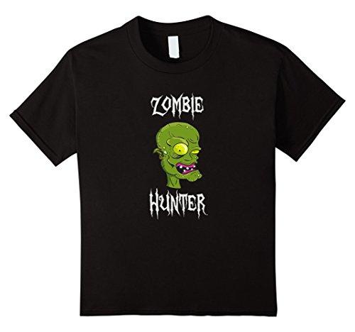 For Kids Hunter Costumes (Kids Funny Halloween Zombie Hunter Shirt 10)