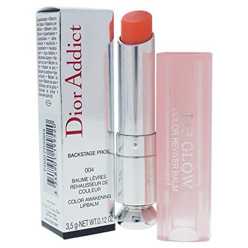Christian Dior Addict Glow Color Awakening Lip Balm SPF 10, No. 004 Coral, 0.12 Ounce