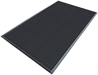 product image for Apache Mills Black Molded Rubber, Entrance Mat, 3 ft. Width, 5 ft. Length - 7937609003x5