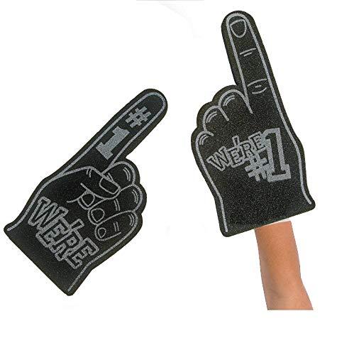 FX We're Number #1 Finger Team Color Cheerleading Foam Hand (Black) 9
