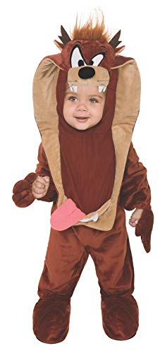 Looney Tune Costumes (Looney Tunes Taz Romper Costume, Brown, 6-12)