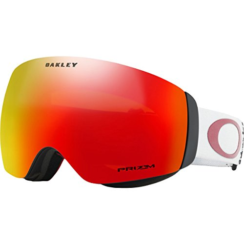 Oakley Flight Deck XM Asian Fit Snow Goggles, White Frame, Prizm Torch Iridium Lens, - Goggles Flight Snow Deck Xm Women's Oakley