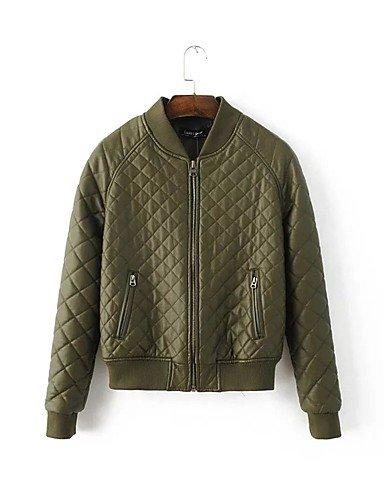 TT & ShangYi Standard relleno de mujer, Abrigo Simple romántico moda ciudad para USCIRE lisa Casual algodón algodón manga larga, L