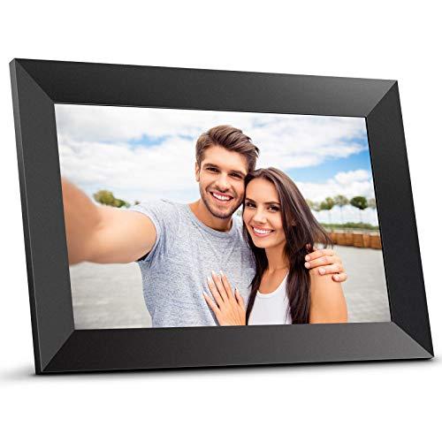 Bqeel Marco de Fotos Digital Inteligente con Wi-Fi de 10.1 Pulgadas, Pantalla LCD IPS HD de 1280×800, Marco de Fotos…