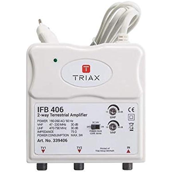 Triax IFB 406 - Amplificador de apartamento (2 salidas, antena ...