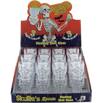 (Shot Glass 1 Pc Skull Shape Light Up 3 Cool Flashing Modes & 3 Colors Party Glass)