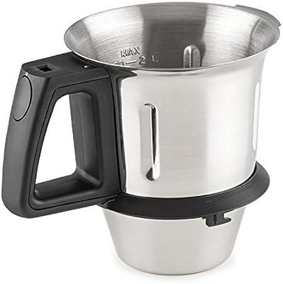 Klarstein Kitchen Hero Recipiente de mezcla accesorio (capacidad 2 litros, acero inoxidable, repuesto robot de cocina): Amazon.es: Hogar