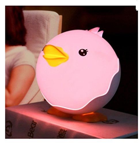 GYMNLJY Charging LED night light bedside lamp bedroom baby baby USB plug energy-saving night light table lamp , pink by Gym00 (Image #2)