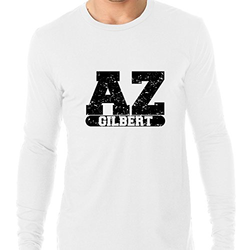 Gilbert, Arizona AZ Classic City State Sign Men's Long Sleeve -