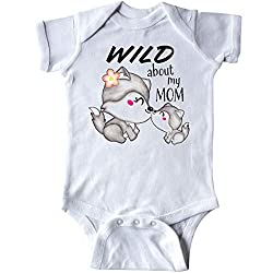 inktastic - Wild About My Mom- Mother and Baby Wolves Infant Creeper 34c75