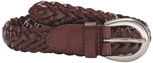 Chaps Women's Braided Woven Belt, Tan, Small