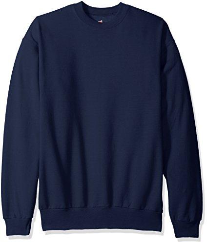 Sudadera para hombre Ecosmart Fleece de Hanes, azul marino, XL