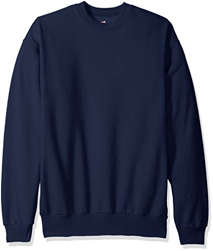 Hanes Men's EcoSmart Fleece Sweatshirt,Navy,2 XL (Tall Crewneck Sweatshirt)