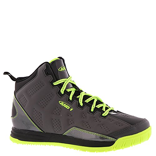 AND 1 Show Out Boys' Youth Basketball 1 M US Little Kid Dark Grey-Neo Green-Black