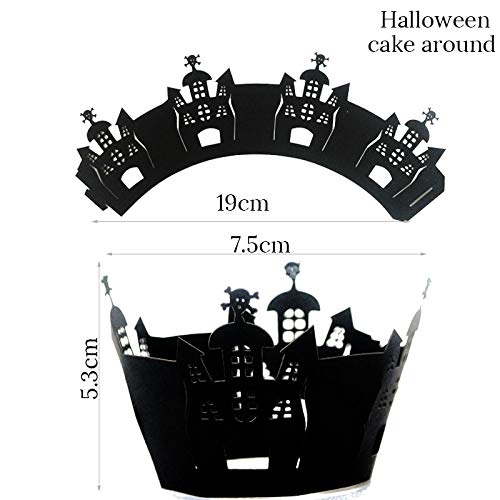 KathShop 12 PCS Halloween Paper Cupcake Wrapper Cupcake
