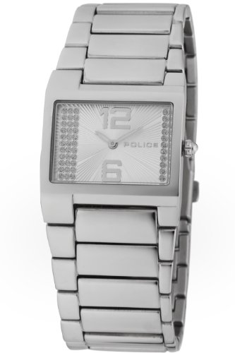 Police Women's PL-12695LS/04M Vanity White Dial Stainless Steel Band Watch