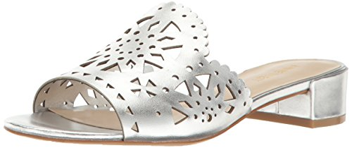Nine West Women's Rownda Leather Mule Silver