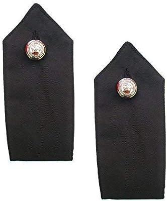 PolAmb Products LTD Par de Negro Policía Seguridad Botón de Encendido Camisa Charreteras Met Estilo: Amazon.es: Deportes y aire libre