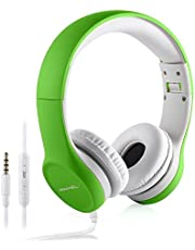 Kids Headphones ,Volume Limited Hisonic over the ear foldable Headphones with Share Connector