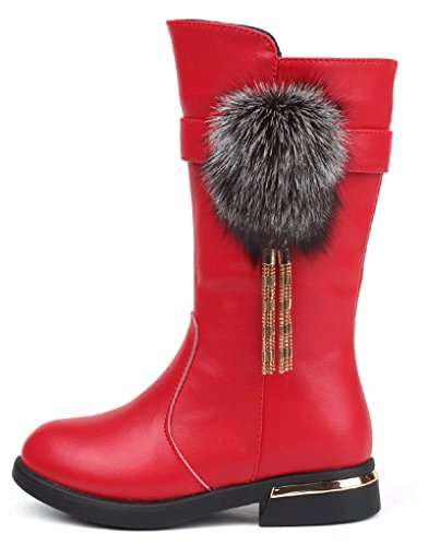 Dresses Girls Cozy Boot Boot Warm Fur Red Boot Pointss Boot Princess Trip Sweet Baby Snow Lined Walking Cotton Winter Boot B0xdSxq7w1