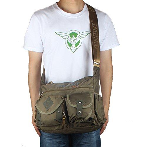 Innturt Nylon Messenger Bag Shoulder Sling Bag Army Green by Innturt (Image #4)