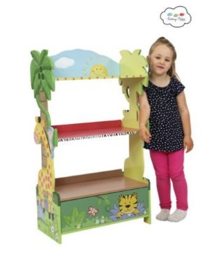 Fantasy Fields - Under the Animal Thematic Kids Wooden Bookcase with Storage | Imagination Inspiring Handcrafted & Hand Painted Details | Non-Toxic, Lead Free Water-based Paint