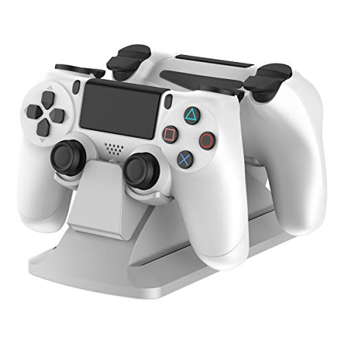 GameSir Dual Controller Charging Station Stand Charger Dock for PS4 / PS4 Slim / PS4 Pro, PlayStation 4 Controller Charger with Excellent Performance, White