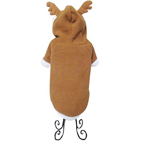 NACOCO Pet Costumes Dog Christmas Suit Dog Elk Santa Costume Polar Fleece Fit for Puppy Dog Teddy (Small)