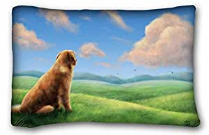 Custom Characteristic Animal Custom Cotton & Polyester Soft Rectangle Pillow Case Cover 20x30 inches (One Side) suitable for X-Long Twin-bed