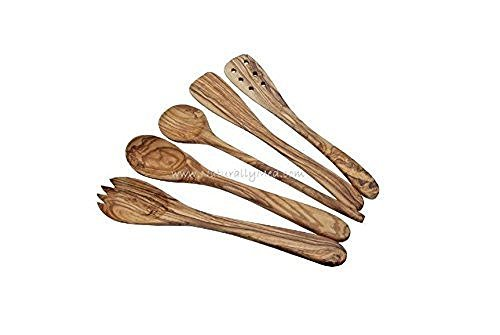 Madera-de-Olivo-de-utensilios-de-cocina-5-piezas-30-cm