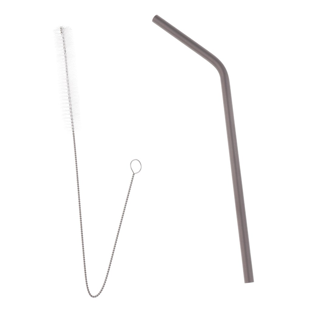 Homyl Reusable Titanium Healthy Drinking Straw Water Coffee Juice Sucker for Backpacking Garden Party