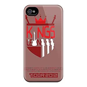 Iphone 4/4s UqL3053gmlR Support Personal Customs Realistic Kings Of Leon Band Pattern Shock-Absorbing Cell-phone Hard Covers -AnnaDubois