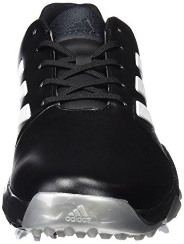 Adidas adiPower Boost 60Scarpe di Allarga Larga, Uomo, Nero/Bianco/Argento, 45.3