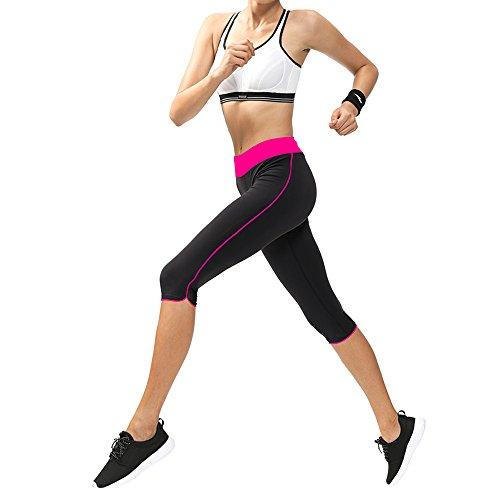 Leggings Multicolor negro capri rosa mujer Abusa para Large X rojo deportivos FUAqXndH