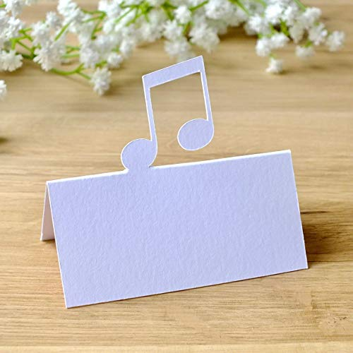 White Music Note Wedding Table Name Place Cards - Set of 10: Amazon