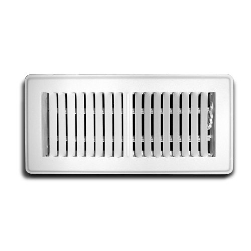 Truaire C150MWT 02X14(Duct Opening Measurements) Floor Supply Grille 2-Inch by 14-Inch Floor Register, White