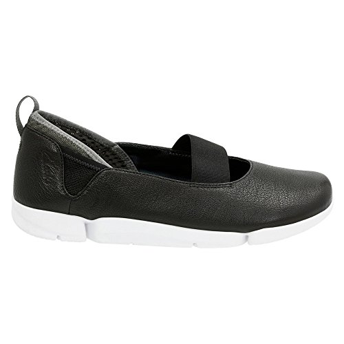 Tri Step 9 M Damen On CLARKS 5 Schwarz Leder Slip US 57T6Ew