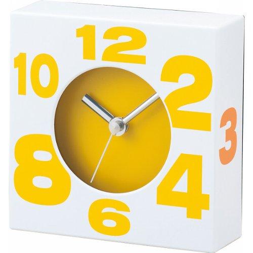 이케다 디자인 벽시계 타이트 쿼츠 옐로우 58007 인테리어 디자인 시계