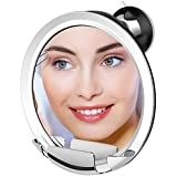 ANLAN 7X Fogless Shower Mirror Strong Locking Suction Fog Free Mirrors with Morden Hook 360°Rotating for Easy Mirrors Viewing