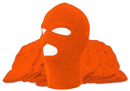 UPC 011711481101, 3-Hole Ski Mask - 12-Pack - Orange