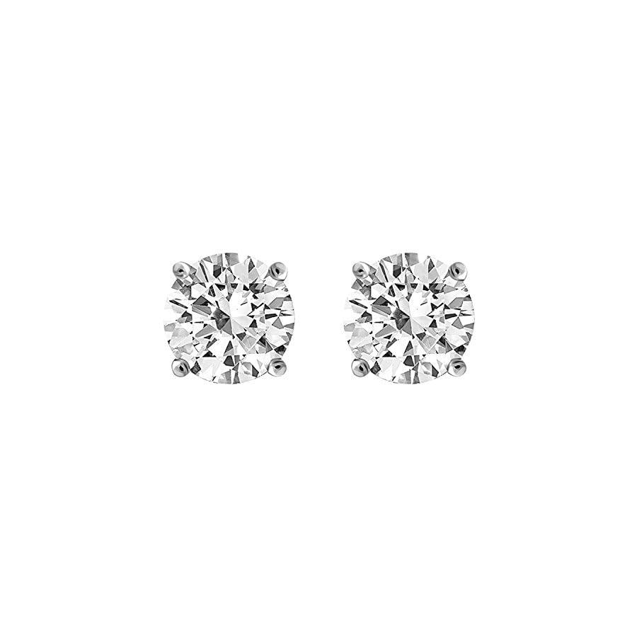 IGI Certified Diamond Stud Earrings for Women Set in 14K Gold, Supreme Quality (Clarity I2I3)