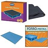 kit Capa + Forro Para Piscina Infantil 1500 Litros - Mor