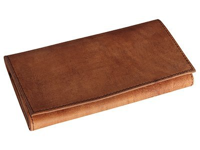 4th Generation Leather Pipe Tobacco Pouch ~ Choose Your Style (Brown Rollup)