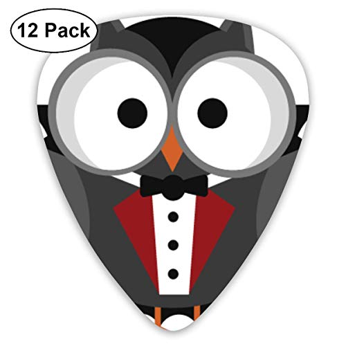 (HOOAL Custom Guitar Picks, Halloween Vampire Owl Guitar Pick,Jewelry Gift For Guitar Lover,12)