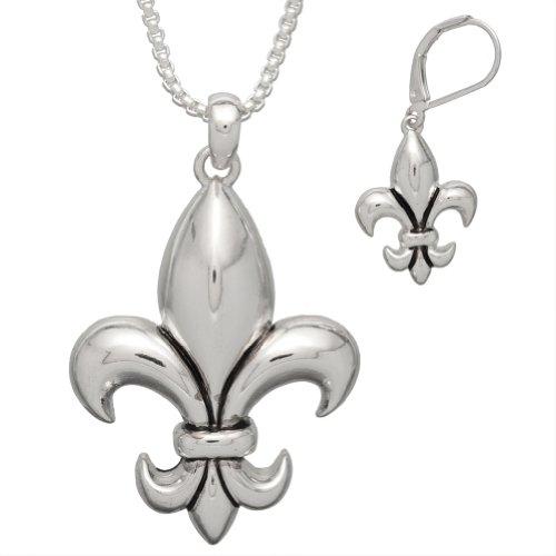 Old Glory - Fleur de Lis Necklace with Earrings Set