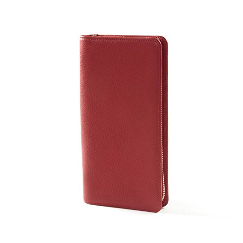 Zip Around Travel Wallet - Full Grain Leather - RFID Red Apple (red) by Leatherology