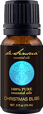 Christmas Bliss Pure Essential Oils Blend (15 ml) – Relaxing Diffuser Aromatherapy – Natural, Charming Blend of Nutmeg, Orange, Clove, Cinnamon & More – Therapeutic Stress Reliever
