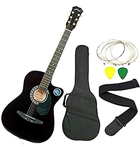 5b2d1ccc36ae Jixing JXNG 6 Strings Acoustic Guitars(Black)  Amazon.in  Musical  Instruments