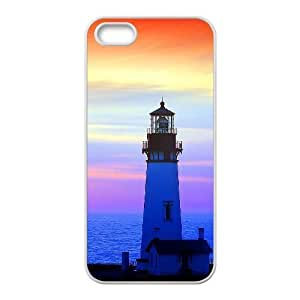 Personalized Cover Case with Hard Shell Protection for Iphone 5,5S case with Lighthouse lxa#378403