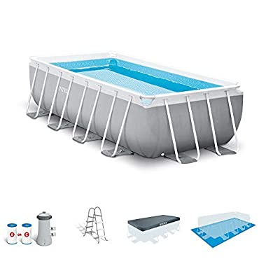 Intex 16ft X 8ft X 42in Prism Frame Rectangle Above-Ground Pool Set, 26791EH